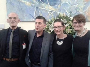 Winners of the Peter Townsend Policy Press prize 2013: (left to right) Colin Webster, Rob Macdonald, Kayleigh Garthwaite and Tracy Shildrick