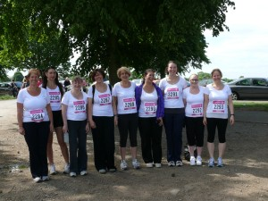 Taking part in the Race for Life