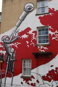 Artist mural Stokes Croft, Bristol