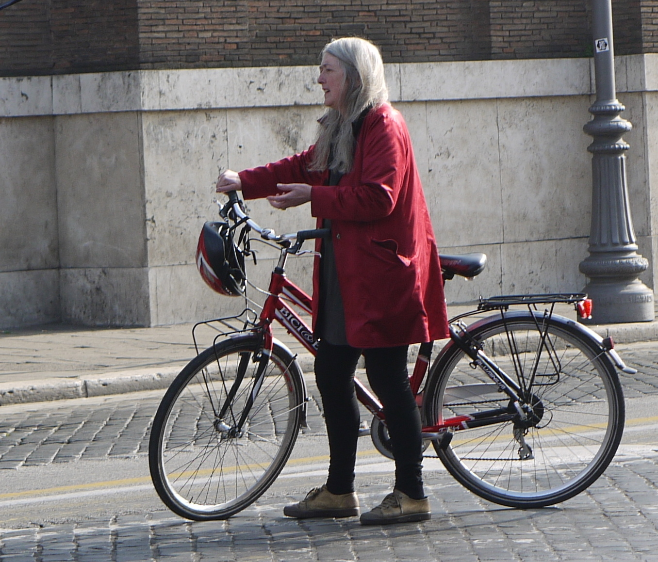 Mary Beard Filming In Rome