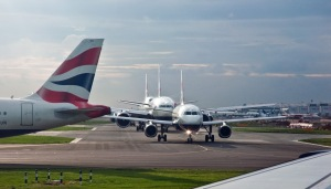Take of queue Heathrow Photo credit: