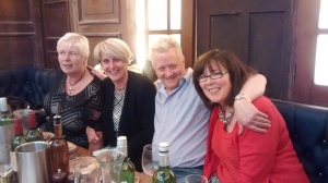 The original Policy Press 'dream team' (left to right) Ann Moore, Head of Sales (retired), Ali Shaw, Director, Dave Worth, Production Manager, Julia Mortimer, Assistant director