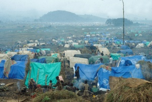 A Rwandan refugee camp in Zaire, 1994 Credit Wikipedia